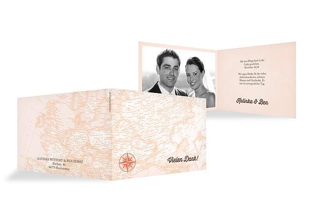 """Dankeskarte Hochzeit """"Reise ins Glück"""""""