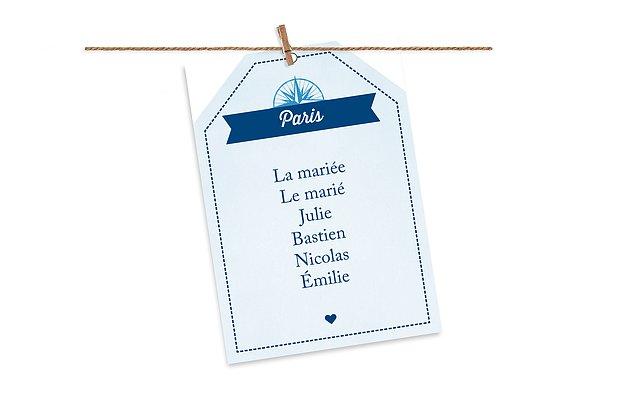 Cartons plan de table mariage Billet d'avion
