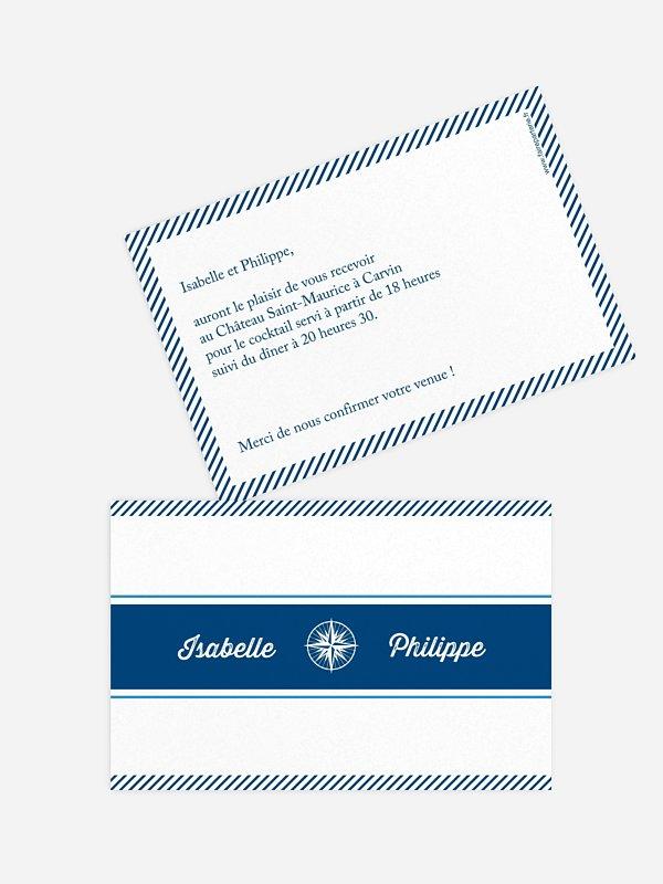 Carton d'invitation Billet d'avion