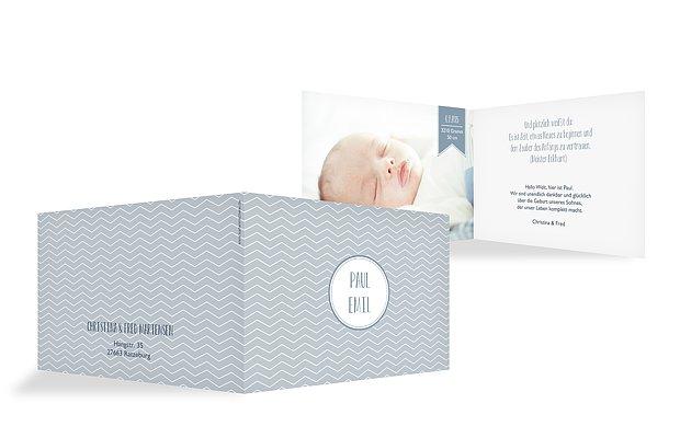 "Geburtskarte ""Babyglück"""