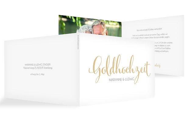Einladung Goldene Hochzeit Fur Immer