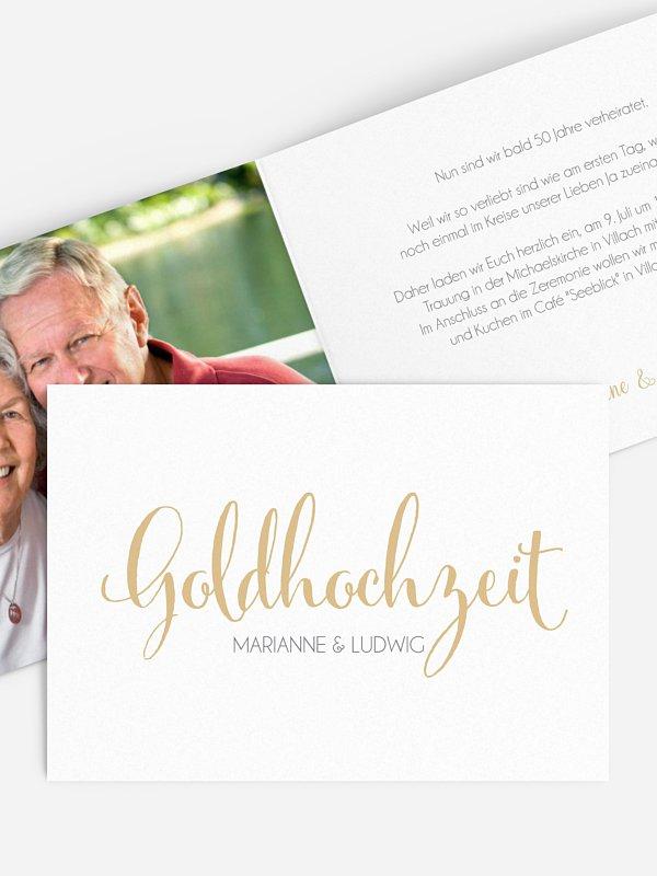 Einladung zur Goldenen Hochzeit Für immer