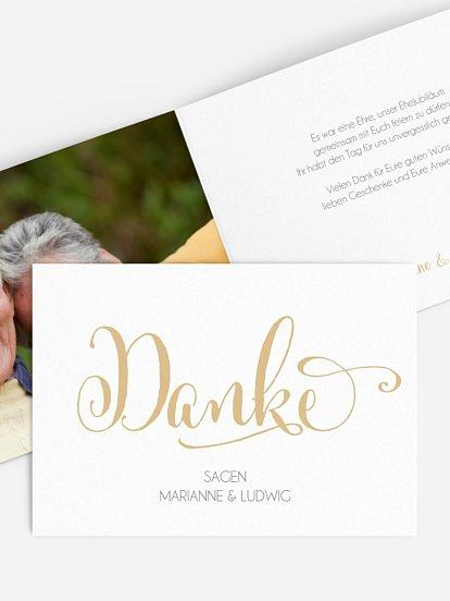 Dankeskarten Für Die Goldene Hochzeit Edel Individuell