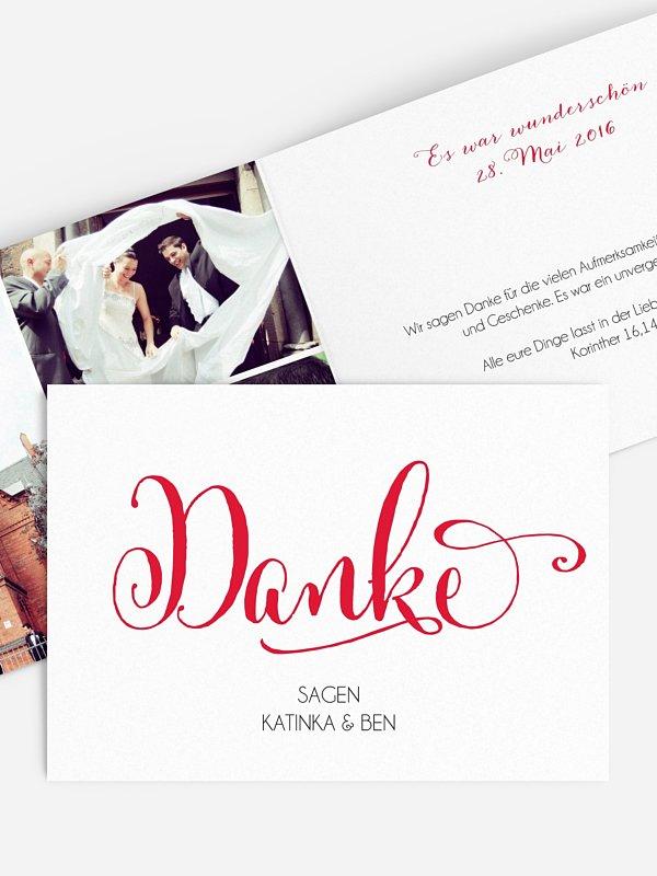 Dankeskarte Hochzeit Für immer