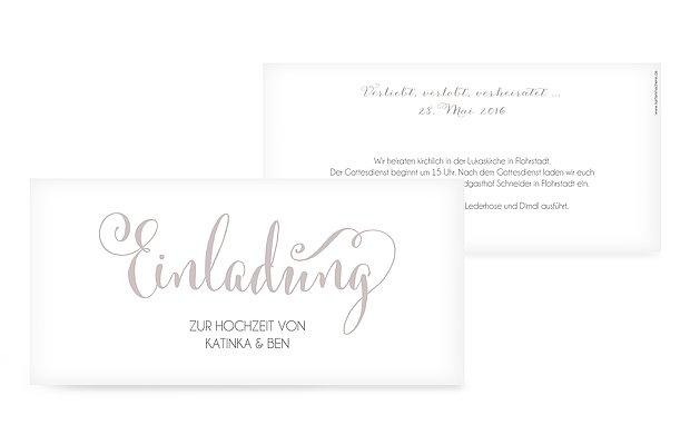 Hochzeitseinladung Für immer