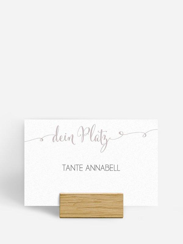 Tischkarte Hochzeit Für immer