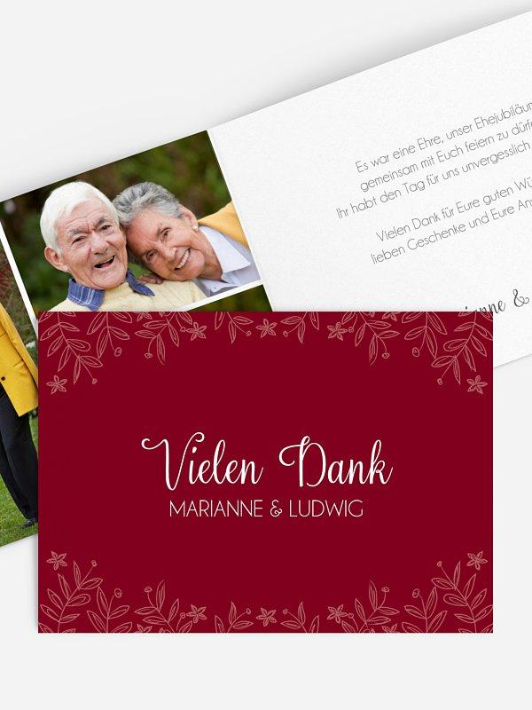Danksagung zur Goldenen Hochzeit Fleur