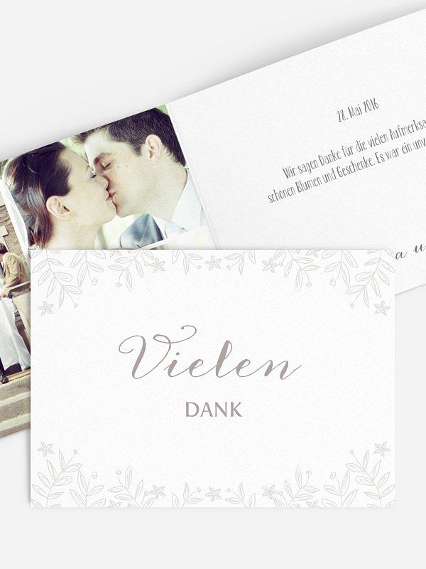 Dankeskarte Hochzeit Fleur