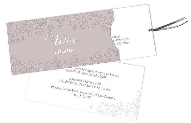 Hochzeitseinladung Fleur