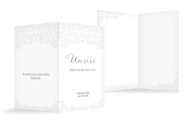 "Kirchenheft Hochzeit ""Fleur"""