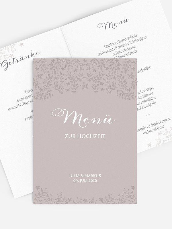 Menükarte Hochzeit Fleur