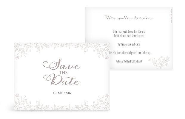 "Save-the-Date Karte ""Fleur"""