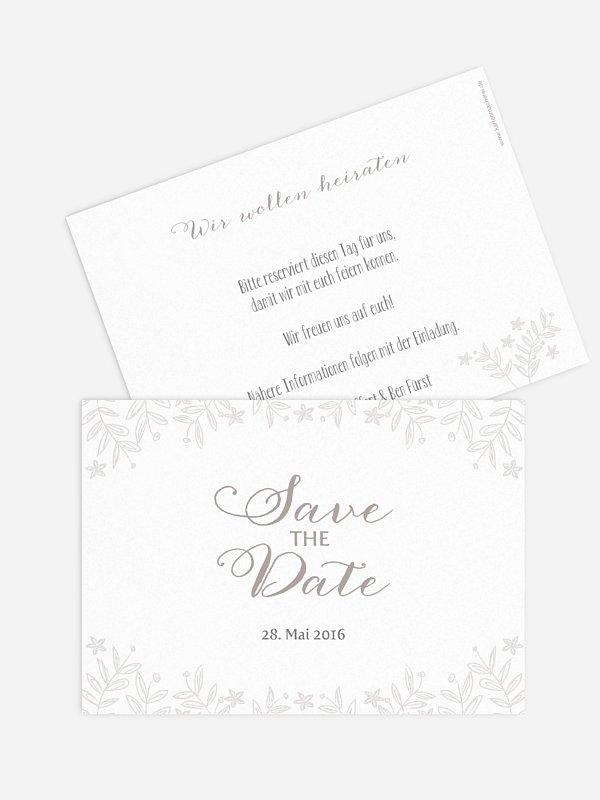 Save-the-Date Karte Fleur