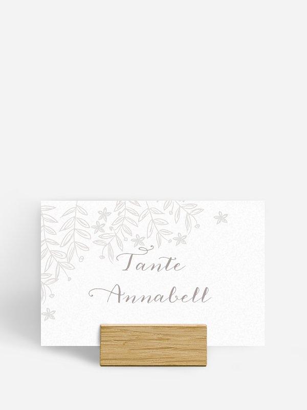 Tischkarte Hochzeit Fleur