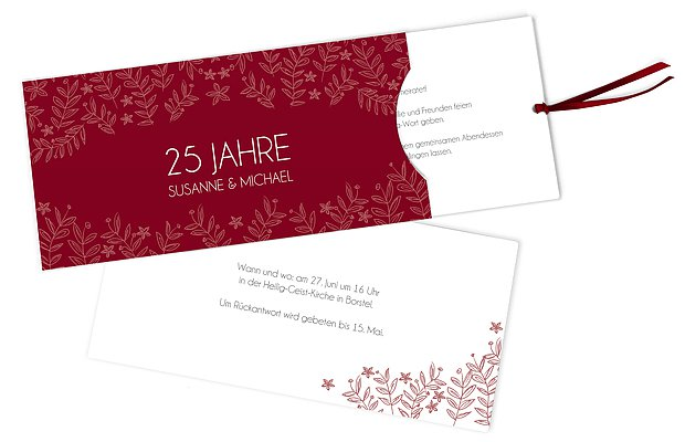 einladungskarten zur silberhochzeit – edel & individuell, Kreative einladungen