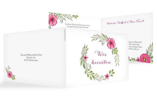 Hochzeitseinladung Floral