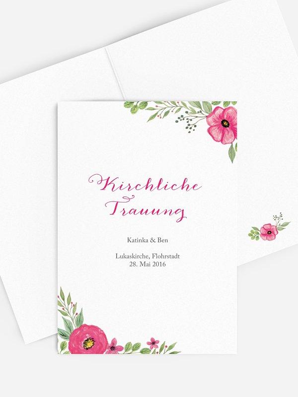 Kirchenheft Hochzeit Floral