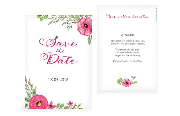 """Save-the-Date Karte """"Floral"""""""