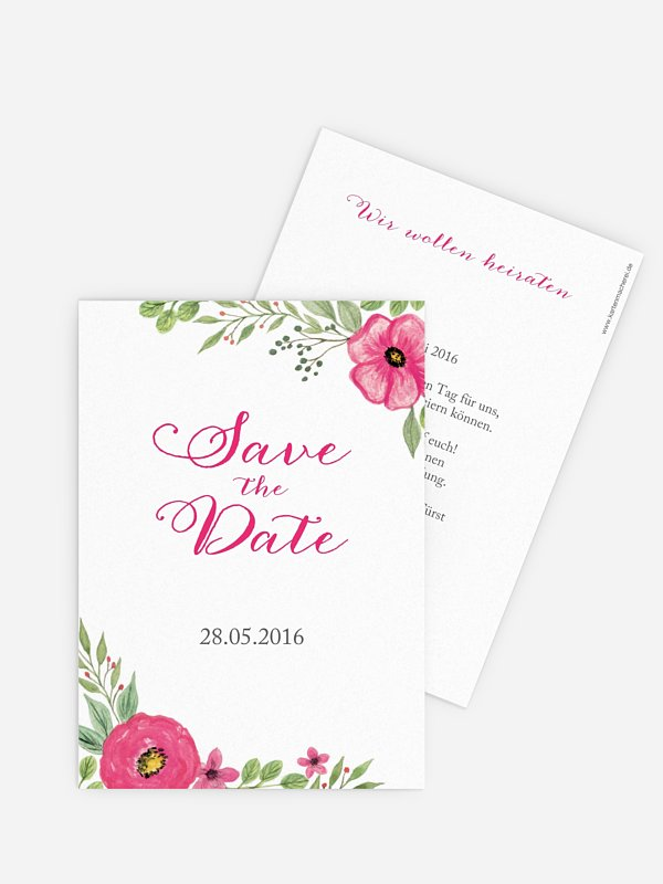 Save-the-Date Karte Floral