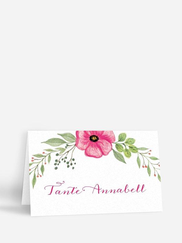 Tischkarte Hochzeit Floral