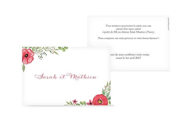 Carton d'invitation Floral