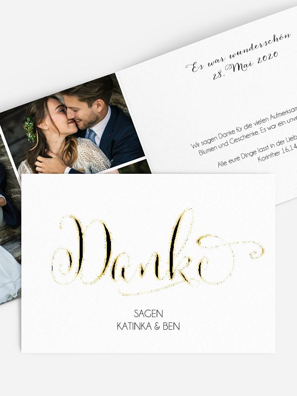 Dankeskarte Hochzeit Für Immer Premium