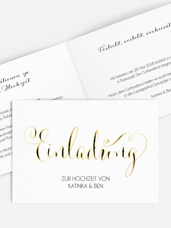 Hochzeitseinladung Für immer Premium