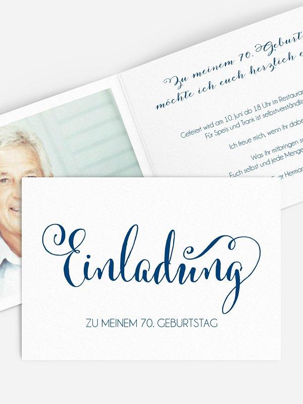 Einladung 70. Geburtstag Schreibschrift