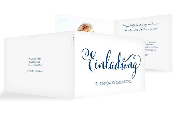 Einladungskarten zum Geburtstag: Einladungen in 1-2 Tagen