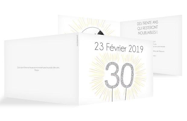 invitation anniversaire 30 Bougie magique