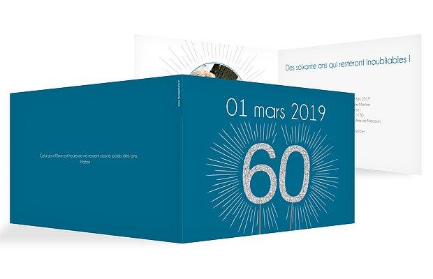 invitation anniversaire 60 Bougie magique