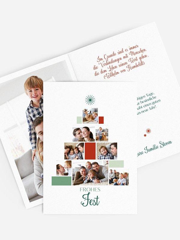 Weihnachtskarte Geschenkebaum