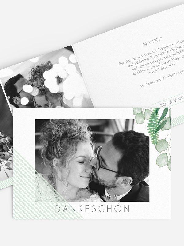 Dankeskarte Hochzeit Greenery