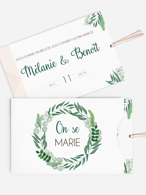 Faire-part mariage Greenery