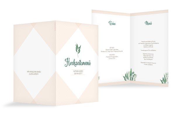 Menükarte Hochzeit Greenery