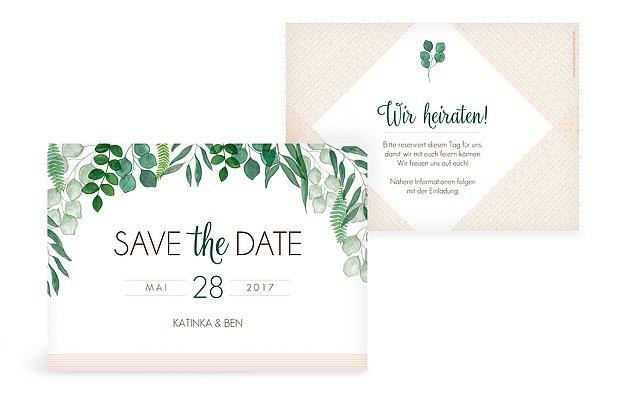 Save-the-Date Karte Greenery