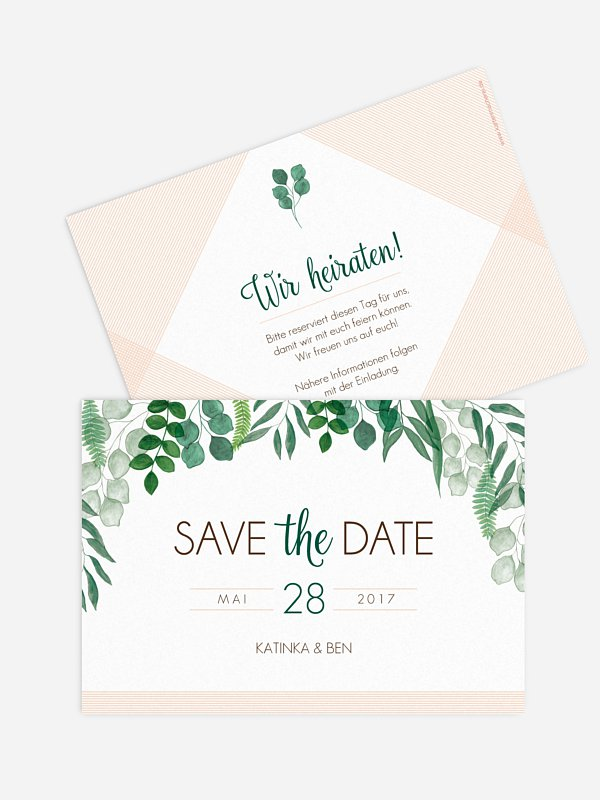 Save-the-Date Karte Greenery