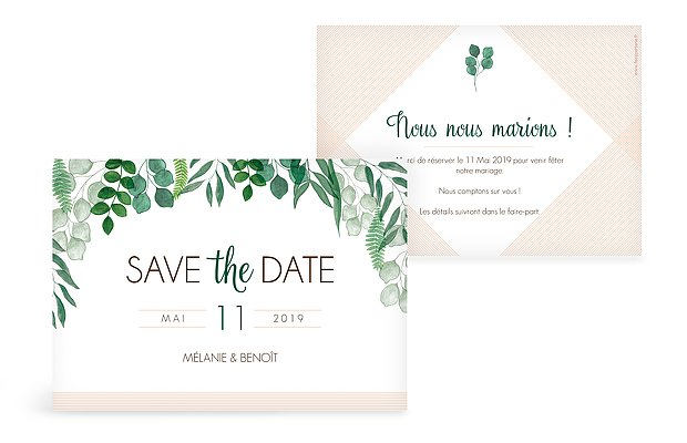 Save the date Greenery