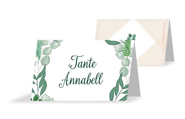 Tischkarte Hochzeit Greenery
