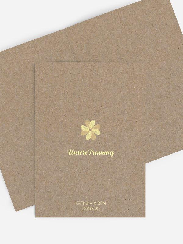 Kirchenheft Hochzeit Fingerprint Kraftpapier