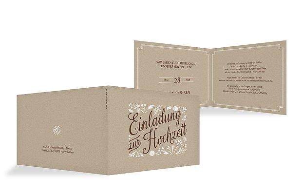 Einladung Zur Hochzeit Romantic Vintage