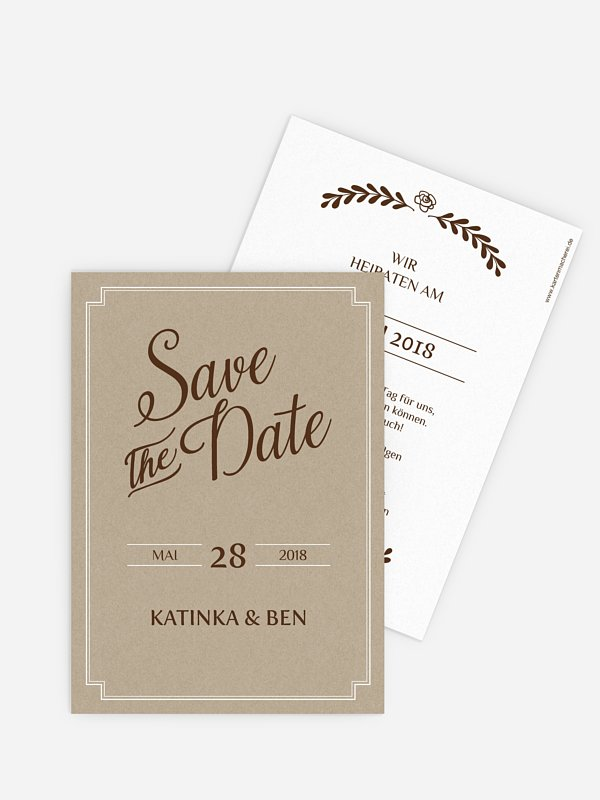 Save-the-Date Karte Romantic Vintage