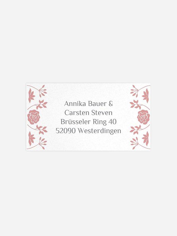 Empfängeraufkleber Hochzeit Romantic Vintage