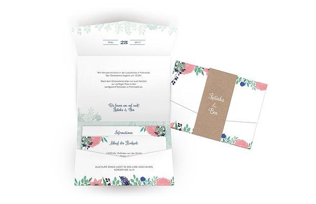Hochzeitseinladung Bloomy