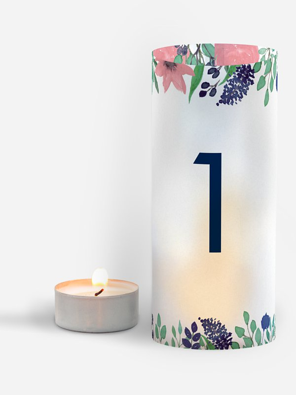 Tischnummer Bloomy