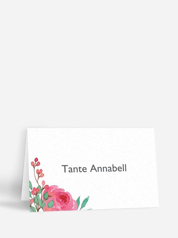Tischkarte Hochzeit Bloomy