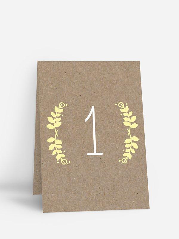 Tischnummer Rustic Love Kraftpapier