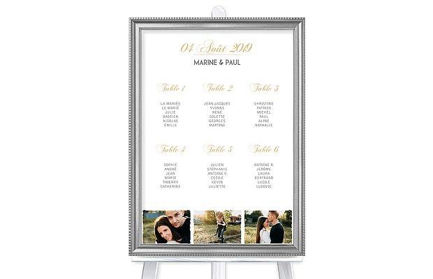 Poster plan de table mariage Vintage Photo