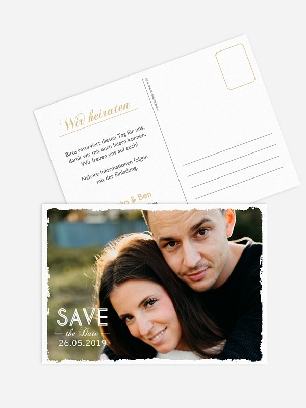 Save-the-Date Karte Vintage Photo