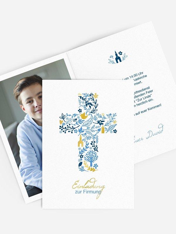 "einladungskarten firmung ""florale botschaft"""